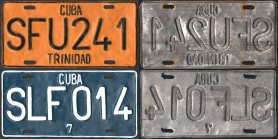 Cuba Car License Plates
