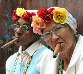 uban cigar-smokers Cuba